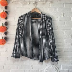 Black and White Checkered Fall Flannel